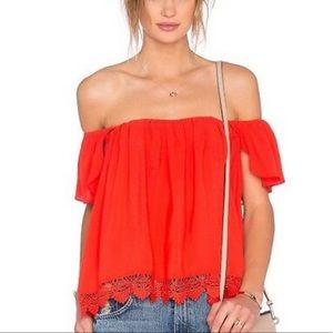 Lovers + Friends Life's a Beach Red Top•szM•NWOT